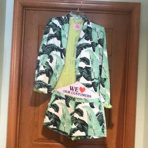 Jacket and shorts set